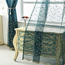 Floral Pastoral Voile Curtain Embroidery Panel
