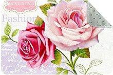 Floral Pattern Door Mat, Machine Washable Soft