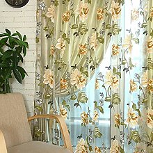 Floral Printed Window Curtains Flower Print Chic