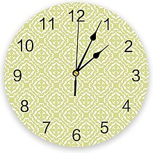 Floral PVC Wall Clock, Silent Non-Ticking Round
