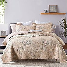 Floral Quilted Bedspread King Size 230x250cm