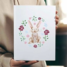 Floral Rabbit Wall Art Print | Gift for Friends &