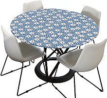 Floral Round Tablecloth for Circular Table, Morbuy