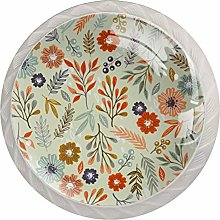 Floral Simple Drawer Round Knobs Cabinet Pull