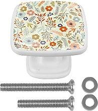 Floral Simple Mushroom Cabinet Knobs Drawer Knob