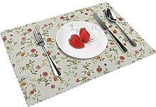 Floral Vintage Floral Pink Floral Table mat 4