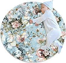Floral Watercolor Flowers Doormat Floor Mats Round