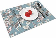 Floral With Birds Insulation Heat Resistant Table