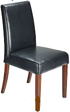 Florence Bonded Leather Chair Black Bonded Leather