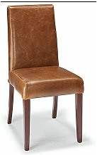 Florence Bonded Leather Chair Brown Bonded Leather