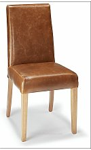 Florence Bonded Leather Chair Tan Analine Leather