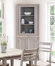 Florence Corner Display Cabinet, Dresser dove grey