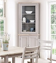 Florence Corner Display Cabinet, Truffle glass