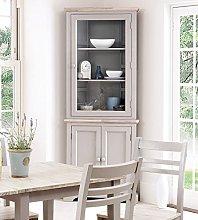 Florence Corner Display Cabinet, Truffle glass