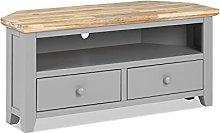 Florence Dove Grey TV corner cabinet. Sturdy