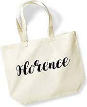 Florence Personalised Shopping Tote in Natural