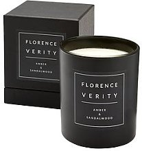 Florence Verity Amber & Sandalwood Candle