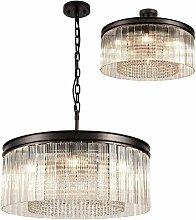 Florero design pendant light 8 bulbs oxidized brown