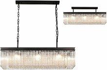 Florero designer pendant light 11 bulbs oxidized