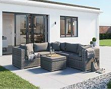 Florida 6 Piece Rattan Garden Corner Sofa Set in