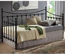 Florida Vintage Style Metal Daybed In Black