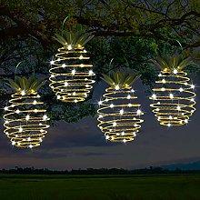 Florvine 16cm Spiral Solar Lights Outdoor Warm