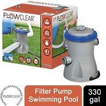 Flowclear 330gal Filter Pump Swimming Pool, Grey -