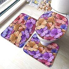Flower Bathmat,Colorful Background With Geranium