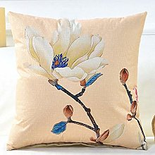 Flower Bird Spring Pillowcover Cotton Linen