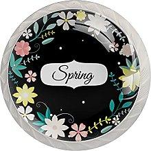 Flower, Cabinet Knob Premium Drawer Cabinet