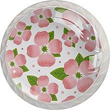 Flower Crystal Drawer Cabinet Knobs Kitchen