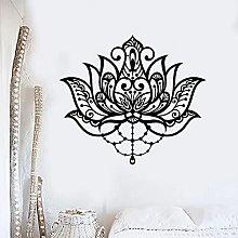 Flower Decoration Wall Decals Lotus Meditation