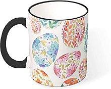 Flower Easter Egg Coffee Mug Funny Design Ceramic