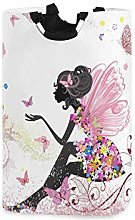 Flower Fairy with Butterfly Laundry Hamper Basket