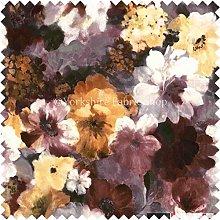 Flower Floral Pattern Brown Print Velvet