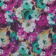 Flower Floral Pattern Pink Green Print Velvet