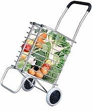 Flower Folding Shopping Cart 2 Wheels, Folding,