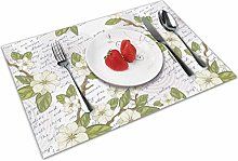 Flower Insulation Heat Resistant Table Mats Easy