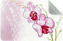 Flower Pattern Door Mat, Machine Washable Soft