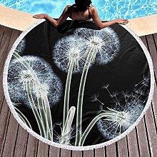 Flower Printed Round Beach Towel Yoga Picnic Mat