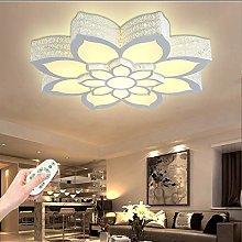Flower-Shape LED Ceiling Lamp Modern Dimmable