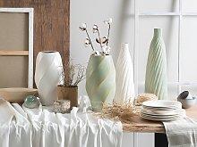 Flower Vase White Ceramic Decorative Elegant