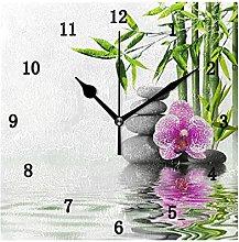 Flower Wall Clock, Silent Non Ticking Battery