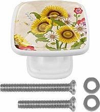 Flower with Bee Drawer Knob for Home Cabinet