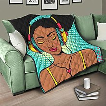 Flowerhome African Woman Bedspread Quilted Bed