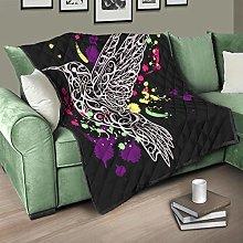 Flowerhome Bird Quilted Bedspread Bed Throw Sofa