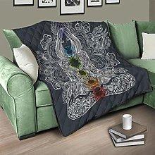 Flowerhome Buddha Chakra Bedspread Quilt Bed Throw