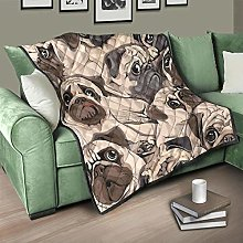 Flowerhome Dog Quilted Bedspread Bed Throw Sofa