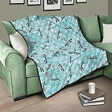 Flowerhome Dragonfly Bedspread Quilted Bed Throw