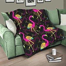 Flowerhome Flamingo Bedspread Quilt Bed Throw Sofa